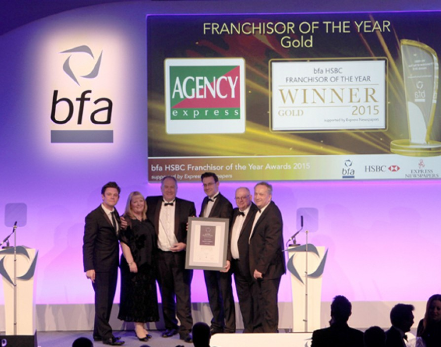 Agency Express takes gold at bfa HSBC Franchisor of the Year Awards