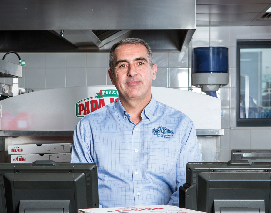 Gareth Davies is helping Papa John's franchisees earn their crust