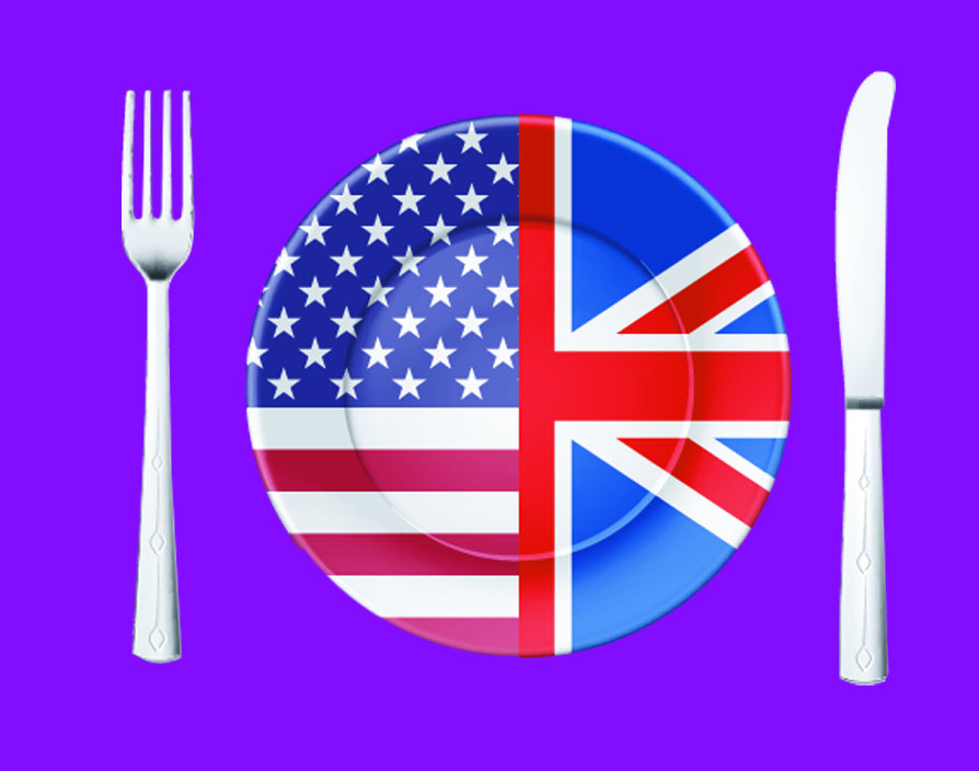 How are the food franchises different in the UK and the US?