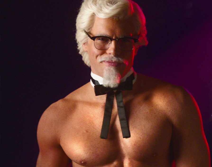 KFC's Colonel Sanders joins a group of strippers in raunchy Mother's Day video