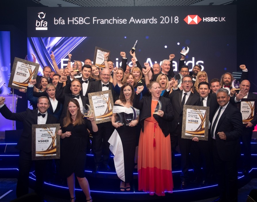 Who reigned supreme at the bfa HSBC Franchise Awards 2018?