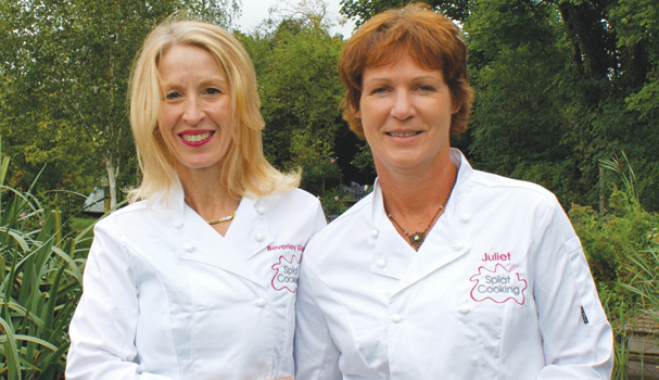 (L) Beverly Glock, founder of Splat Cooking Cookery School, (R) Juliet Hanson, Silvertone franchise owner